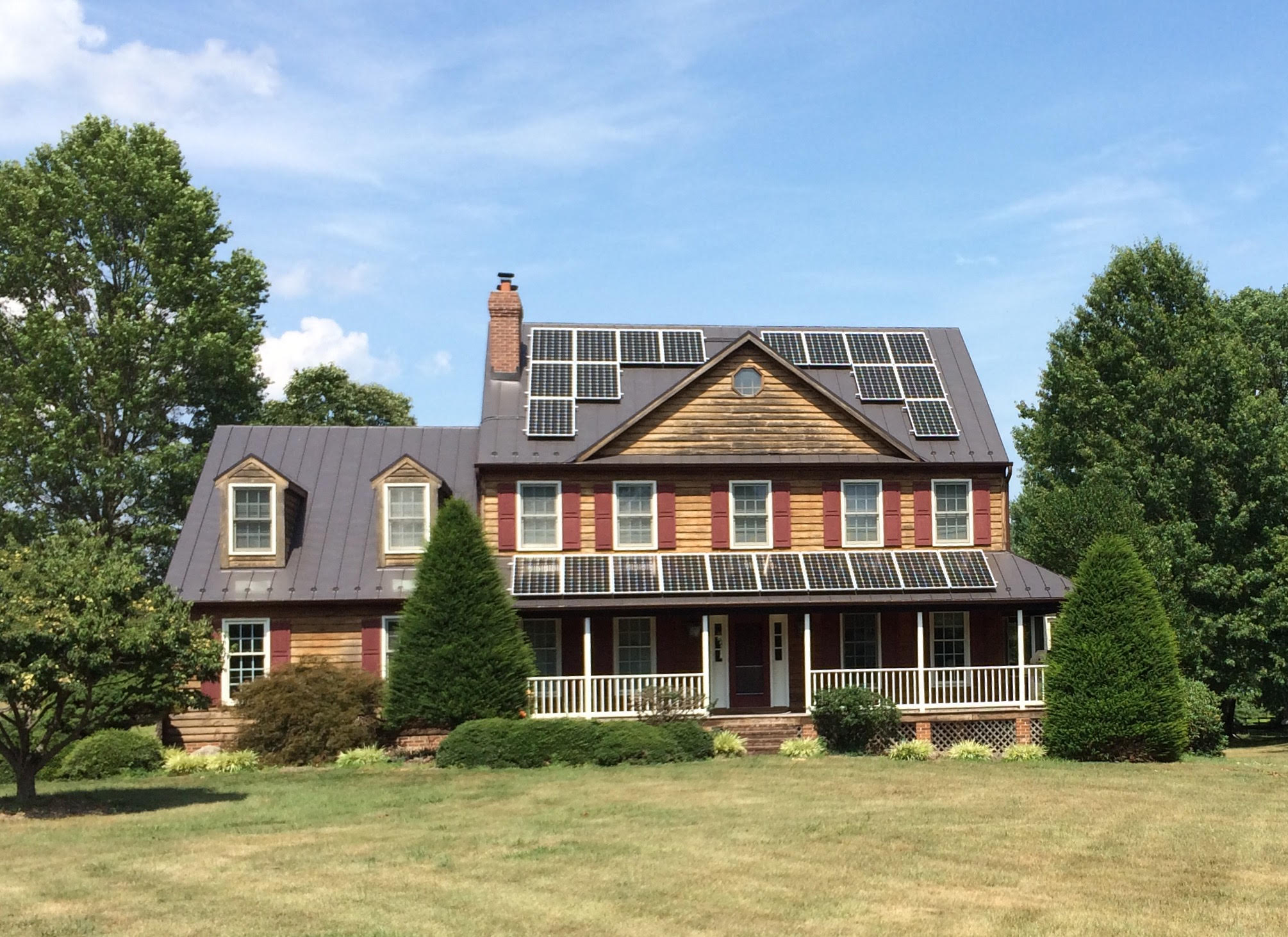 6.84kW grid-tie system in Marshall, Virginia