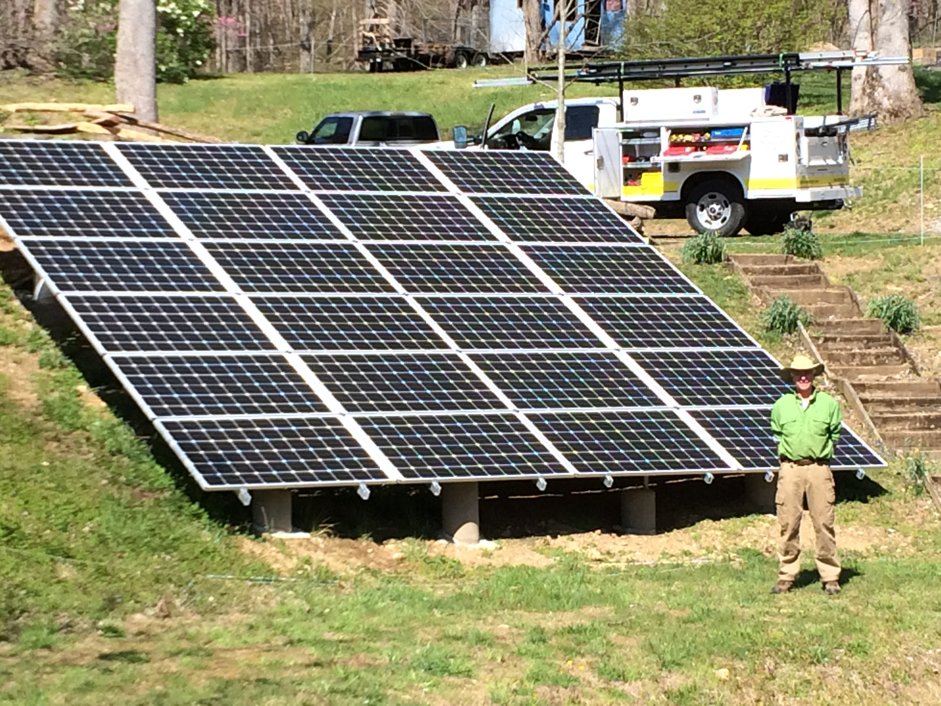 13.68 kW grid-tie system (1 of 2 arrays) in Madison County, Virginia