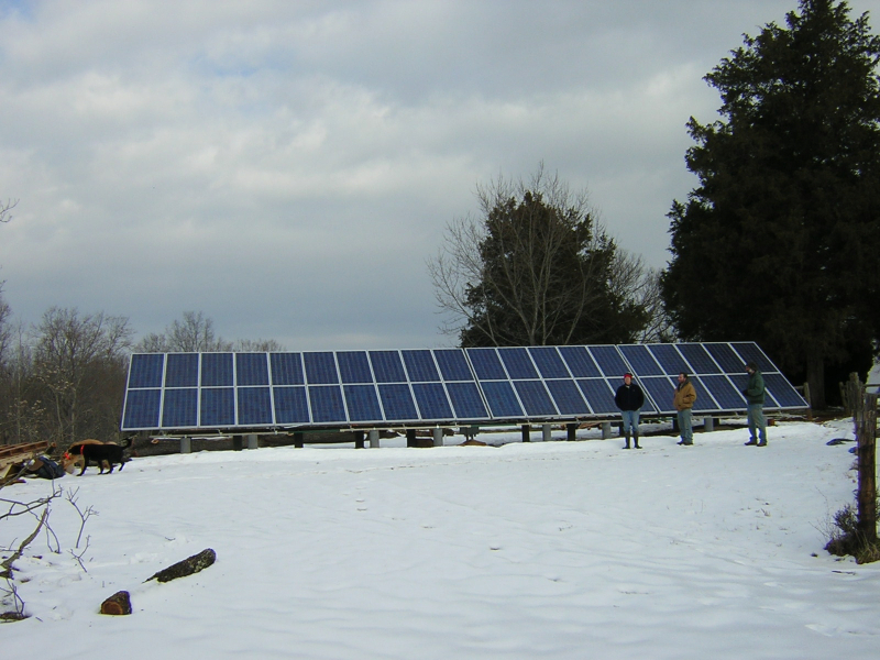 7.4 kW Grid Interactive system in Scottsville, VA