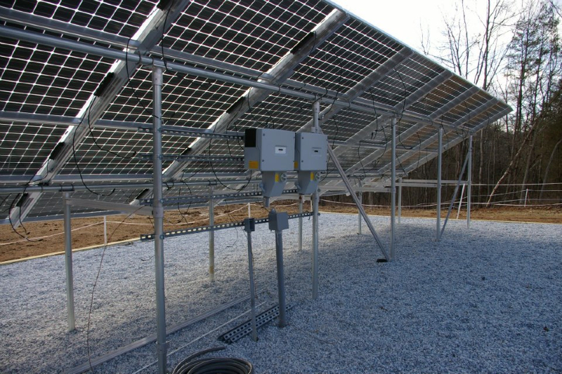 Backside of bifacial panels (under construction)